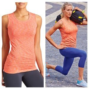 Athleta Fastest Track Muscle Tank M Coral Pink